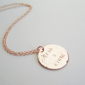Personalized Disc Necklace Rose Gold