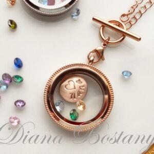 Living Locket Rose Gold Necklace