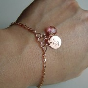 Rose Gold Initial Bracelet