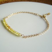 AAA Yellow Sapphires Gold Chain Bracelet