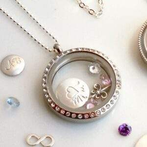 Crystal Halo Locket Stainless Steel