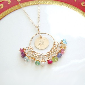 Gold Family Birthstone Necklace