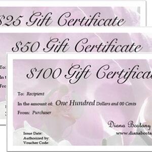 Jewelry Gift Certificates
