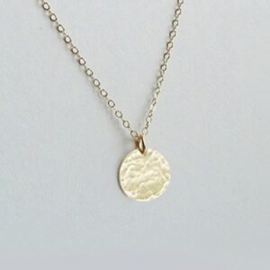 hammered disc necklace