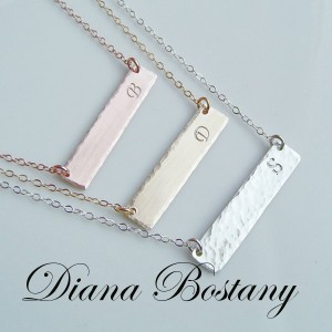 initial bar necklaces