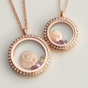 Rose Gold Crystal Living Lockets