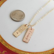 Mini Bar Necklace Gold Rose Gold