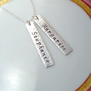 Two Name Bar Necklace