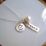 Silver Bar Charm necklace