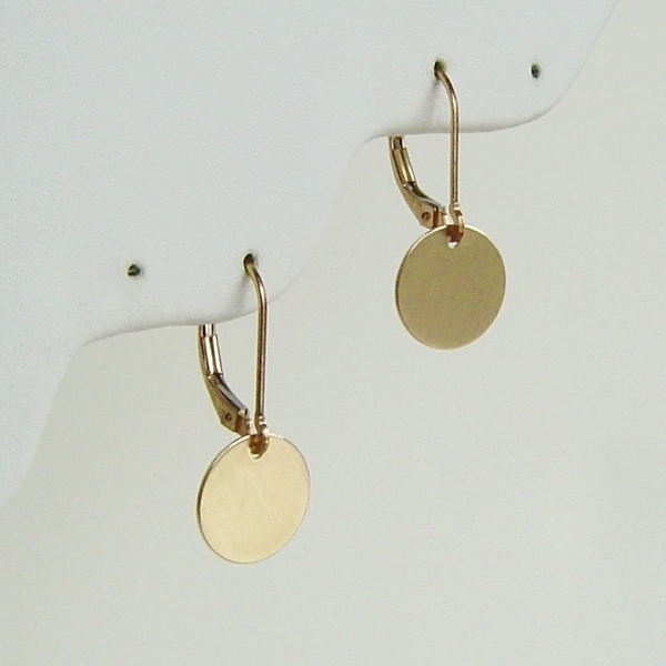 Gold Satin Disc Earrings