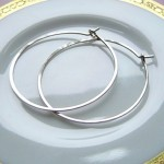 Medium Sterling Hoops Hand forged