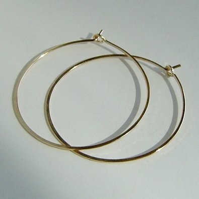 Medium Gold Hoops Hand-forged