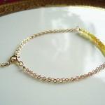 Yellow Sapphire Gold Chain Bracelet