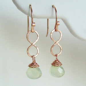 14K Rose Gold Drop Earrings Phrenite