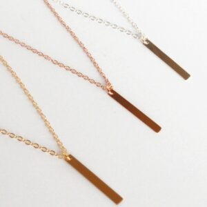 Skinny Bar Necklace