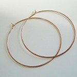 Rose Gold Hoops Large