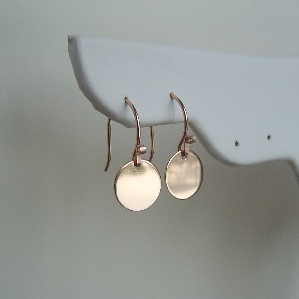 Polished Disc Earrings