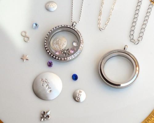 crystal halo locket