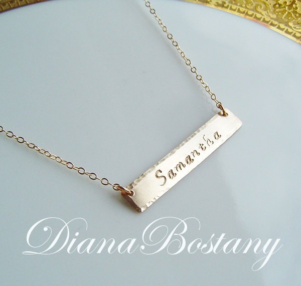 Gold Nameplate Necklace