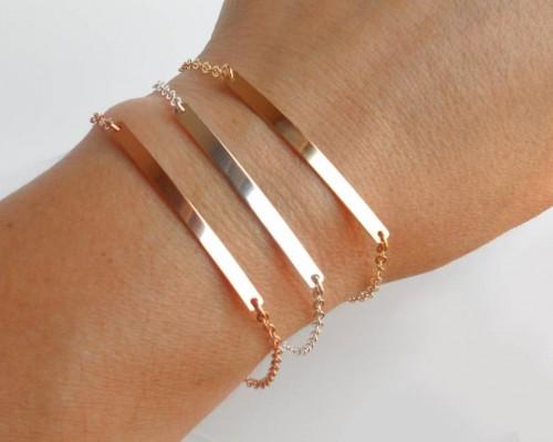 Stamped Bar Bracelet