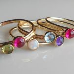 Gold Stack Rings with Gemstones, Peridot, Ruby, Opal, Blue Topaz, Amethyst and More!