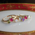 Gold Stack Rings with Gemstones, Peridot, Ruby, Opal, Blue Topaz, Amethyst, and More!